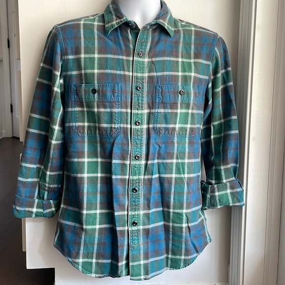 J Crew Mens Small Button Up Flannel Shirt